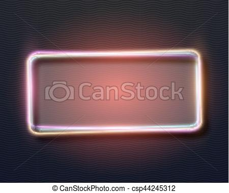 Neon Sign clipart template #4