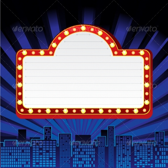 Neon Sign clipart template #2