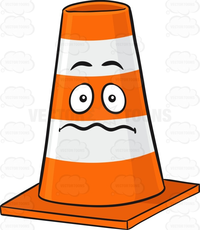Nerves clipart afraid Cone Looking #block # #bollards