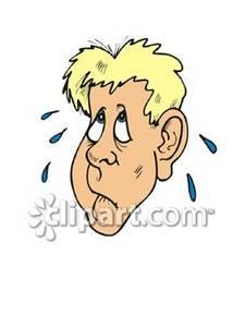 Nerves clipart cartoon A Clipart of Man Nervous