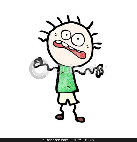 Nerves clipart cartoon Doodle nervous cartoon nervous vector