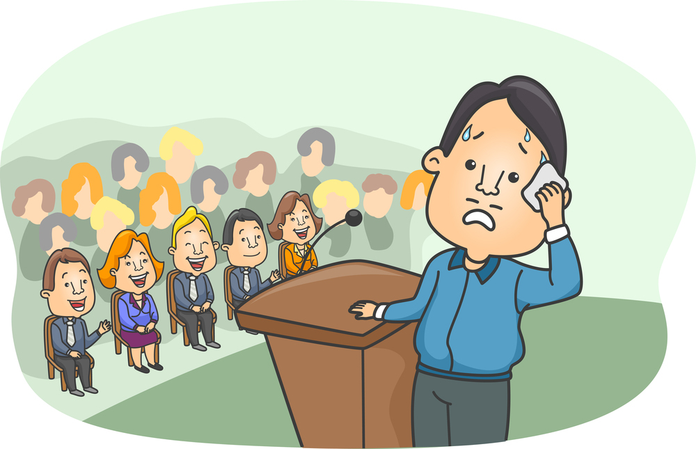 Fear clipart nervous speech Centre and Writing Communication speaking