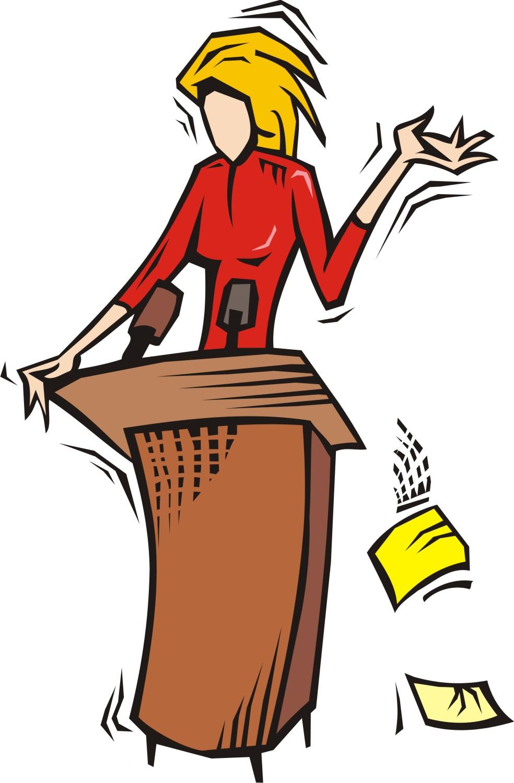 Fear clipart scared public speaking Clip public Woman Download Nervous