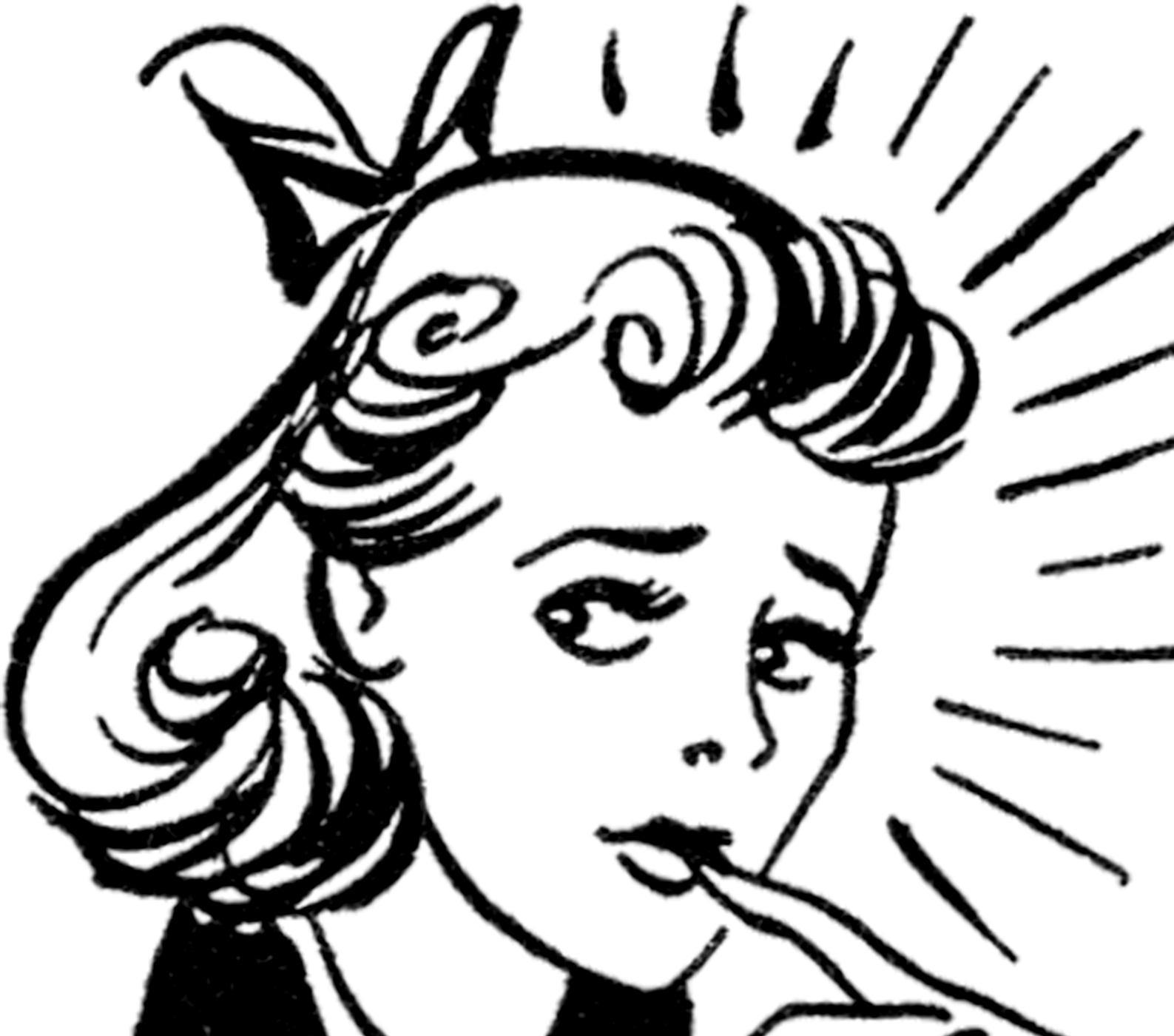 Nerves clipart nervous woman Graphics Lady Fairy Nervous Image!