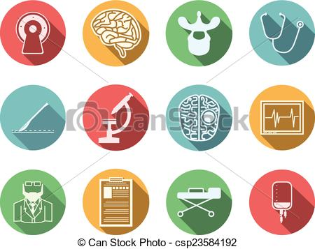 Nerves clipart neurosurgeon Neurosurgery csp23584192 icons of Colored