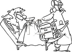Nerves clipart sick student Patient Cartoon White of Quack