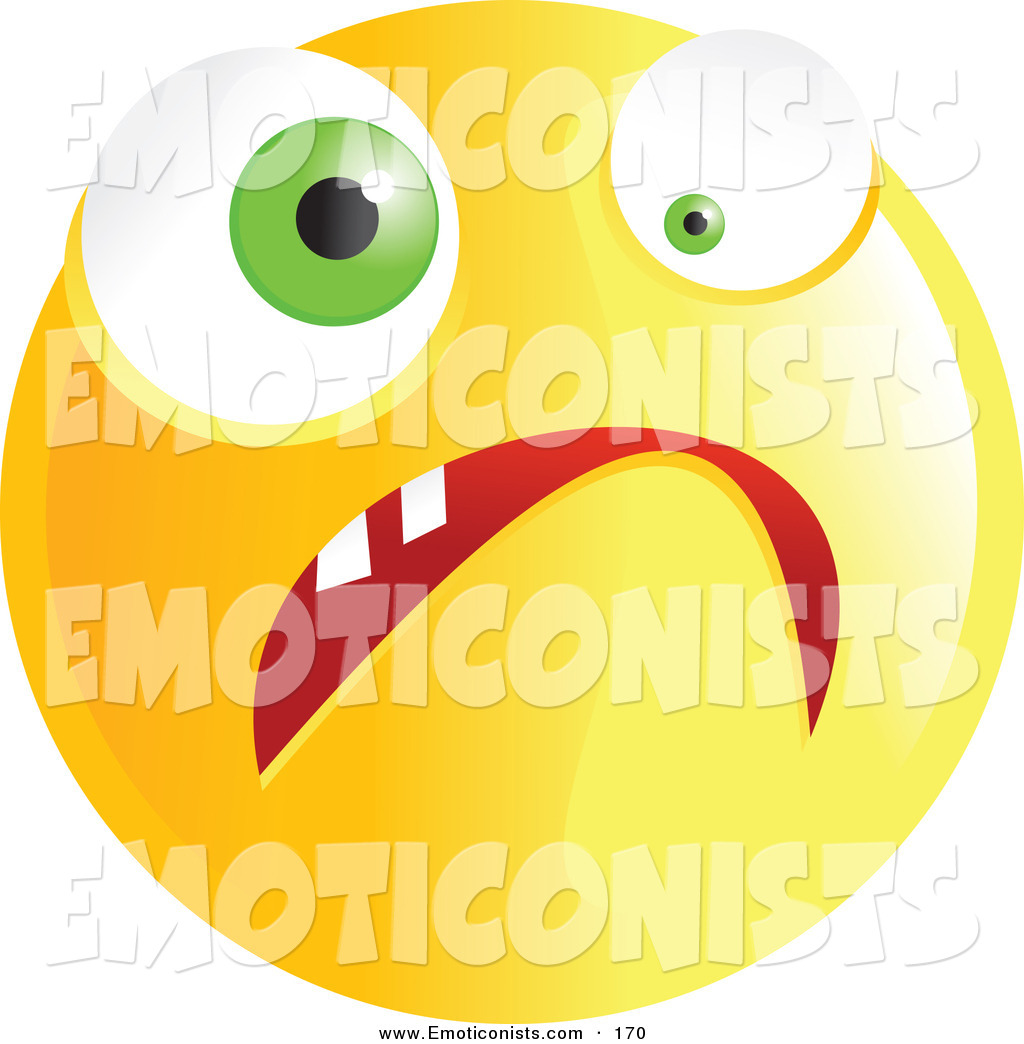 Nerves clipart stressed Royalty Free Yellow Nervous Emoticon