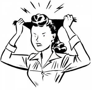 Nerves clipart worried parent Clipart worried Woman worried clipart