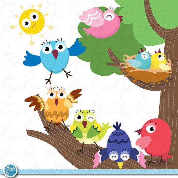 Nest clipart chirping bird #6