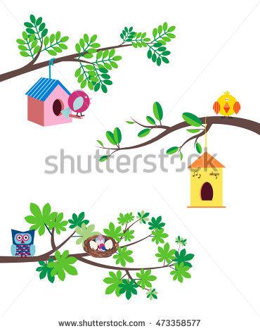 Nest clipart chirping bird #5