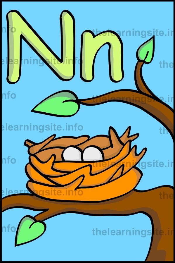 Flashcard nest alphabet Learning n