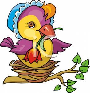 Nest clipart mother bird #6