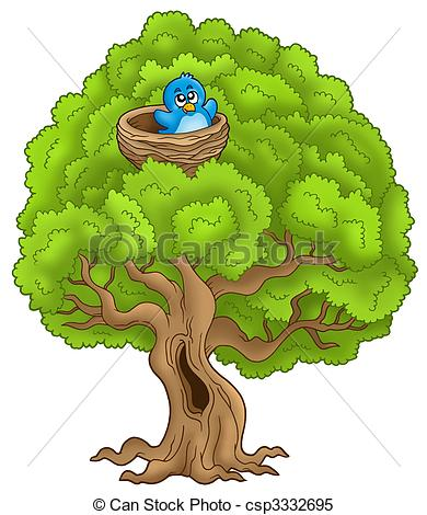 Nest clipart tree drawing With with  bird nest