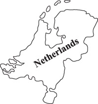 Netherlands clipart black and white Netherlands map for Pictures From: