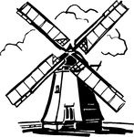 Netherlands clipart black and white About 106 B images Windmill
