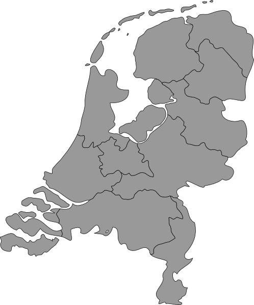Netherlands clipart black and white Map image art this vector