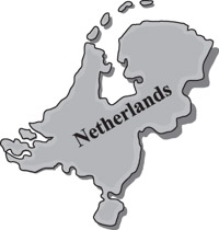 Netherlands clipart black and white Maps Kb clipart Country map