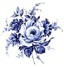 Netherlands clipart blue rose Vintage  Search floral delft