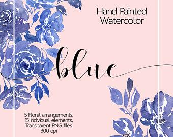 Netherlands clipart blue rose Flowers Art Flower Watercolor Floral