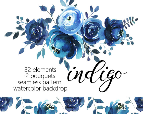 Netherlands clipart blue rose PNG Art Collection DIY Watercolor