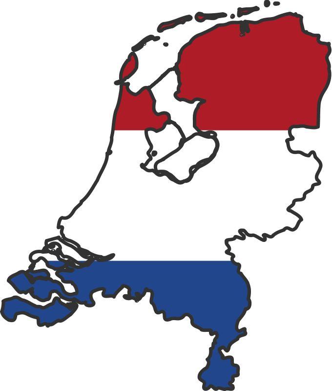 Netherlands clipart march break White flag netherlands Rouge map