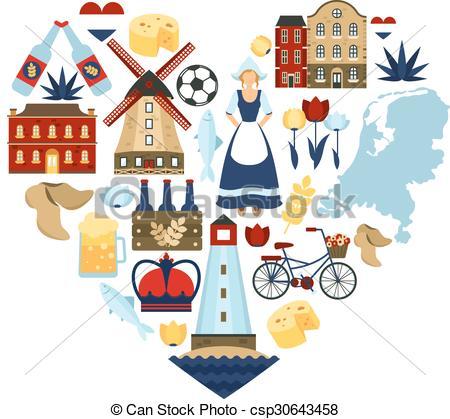 Netherlands clipart Heart Clipart Netherlands Concept