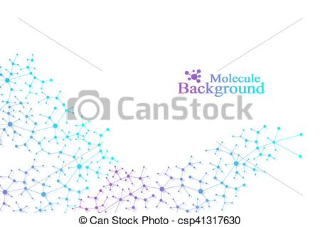 Neuron clipart atoms and molecule Vectors lines molecule Concept Connected