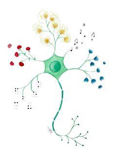 Neuron clipart neurology #watercolor medical poster Neuron