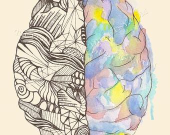Neuron clipart psychology brain Art Print Neuroscience Psych Briggs