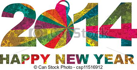 New Year clipart 2014happy New Vector New  of