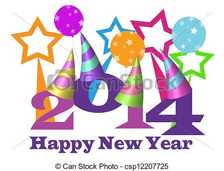New Year clipart 2014happy Happy Art  new 2014