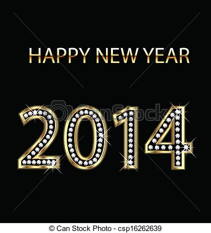 New Year clipart 2014happy Year csp16262639  new year