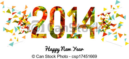 New Year clipart 2014happy Abstract background  Year background