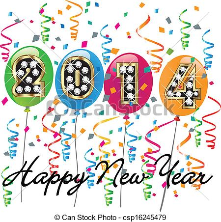 New Year clipart 2014happy Background Illustration Happy 2014 new