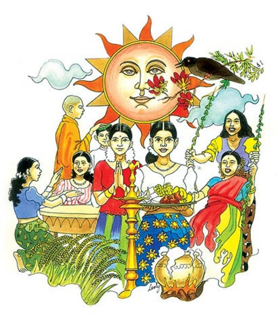 New Year clipart 2016 tamil New Lanka  Sinhala Tamil