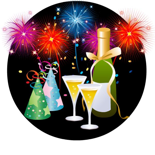 Sparklers clipart new years eve 80 Year Years on Pinterest
