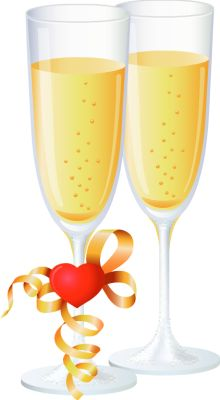 Alcohol clipart wedding wine glass Of Clipart Champagne Clip Ano