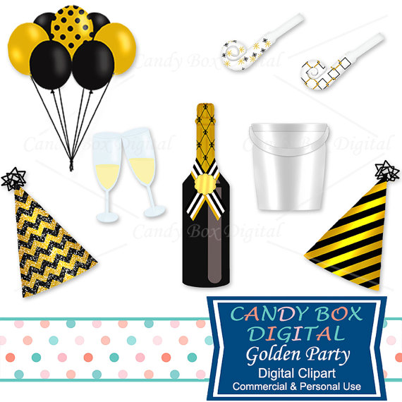 Champagne clipart party New Clipart Etsy Commercial Champagne