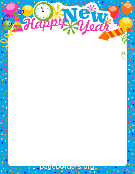 New Year clipart border Border and Eve Use on