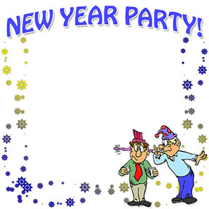 New Year clipart border New New Year Free Happy