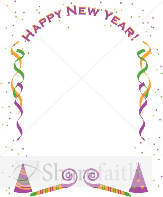 New Year clipart border Clipart New Year's Clipart #1