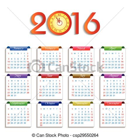 New Year clipart calendar Year Vector happy of Calendar