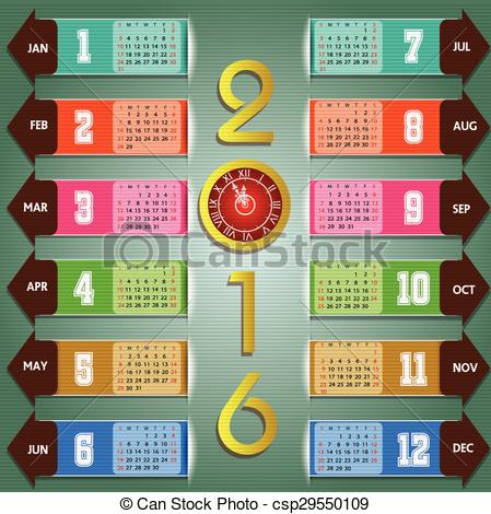 New Year clipart calendar Year of new Calendar Calendar