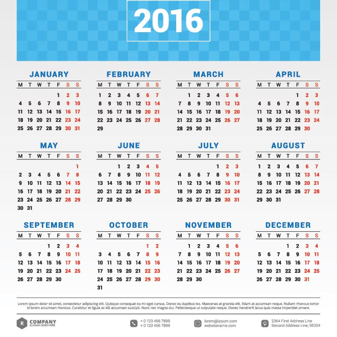 New Year clipart calendar Year Download free 2016 Calendar