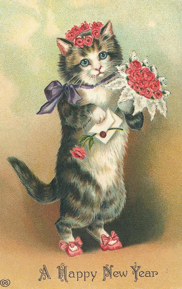 New Year clipart cat 1531 New and about vintage