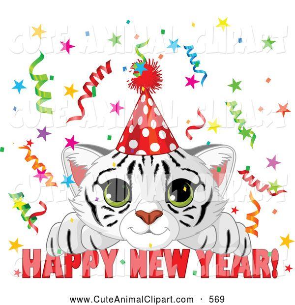 New Year clipart cat Art New year happy Happy