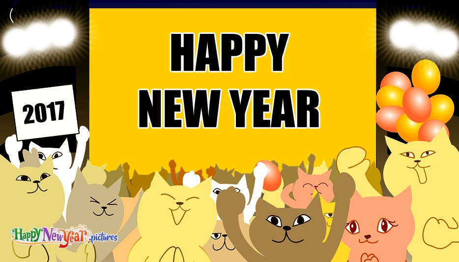 New Year clipart cat Celebrating cat years Happy Cat