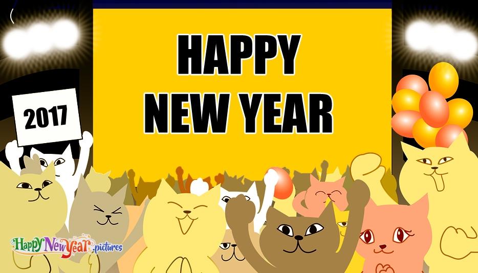 New Year clipart cat @ New new cat Happy