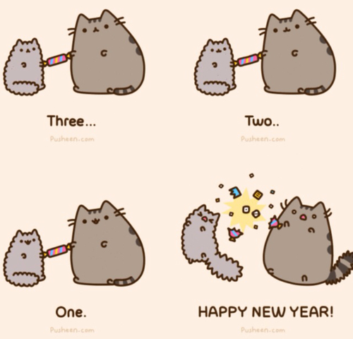 New Year clipart cat Heart We  stormy pusheen!