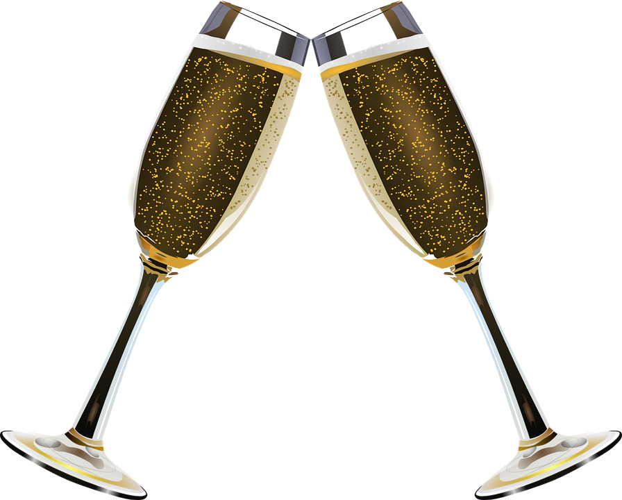 Alcohol clipart wedding wine glass Clink clipart Alkohol Bobler Champagne